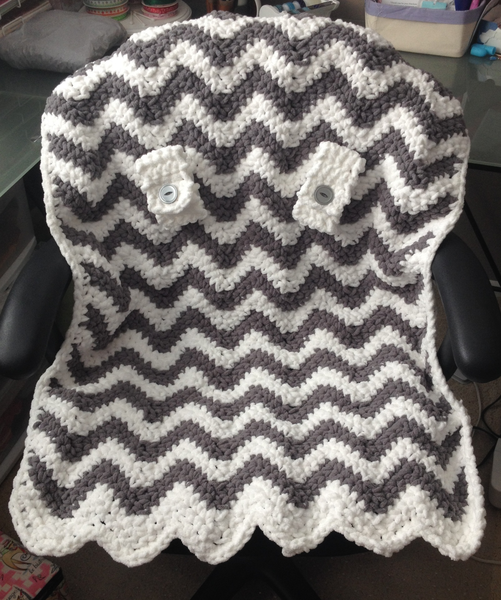 Crochet Carseat Canopy with Elephant applique Elephant pattern by ... | 1919x1602